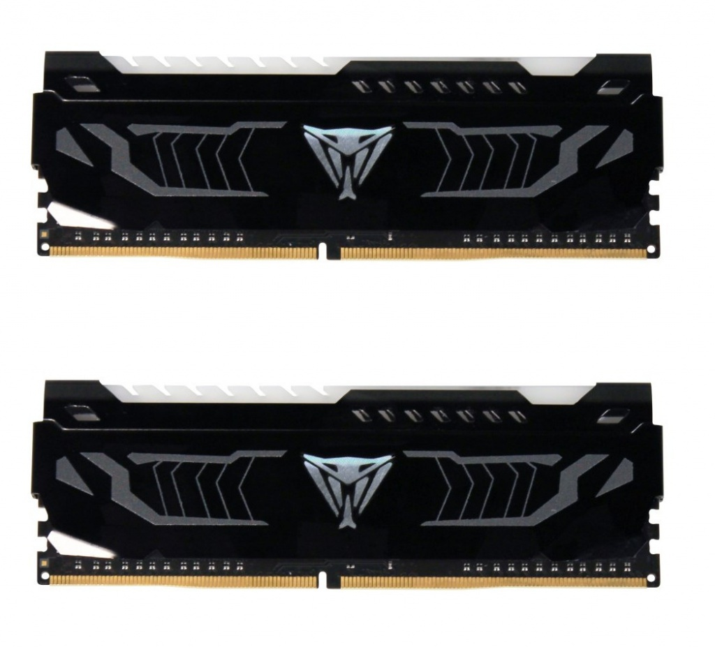 Модуль памяти Patriot Memory Viper LED DDR4 DIMM 3200Mhz PC4-25600 CL16 - 16Gb KIT (2x8Gb) PVLW416G320C6K