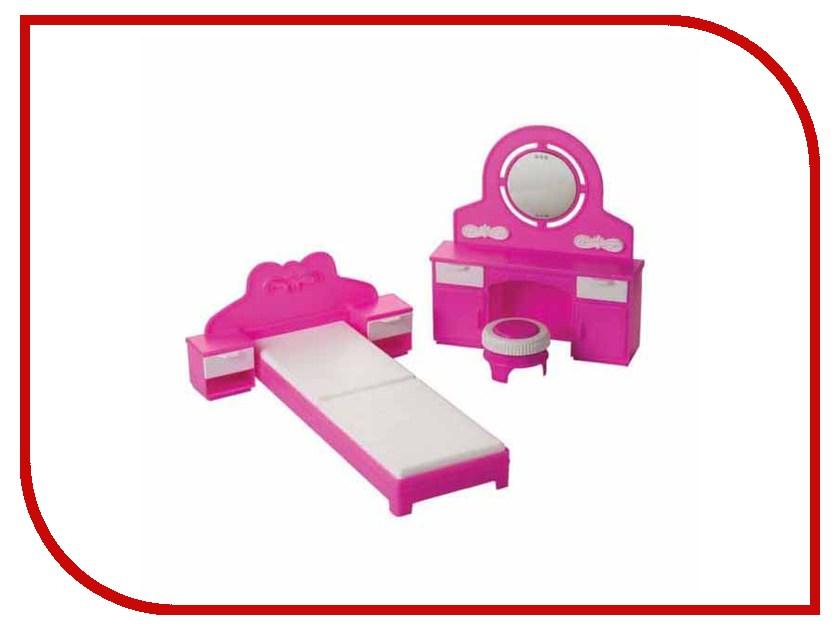 Набор кукольной мебели Огонек Спальня Зефир С-1406
