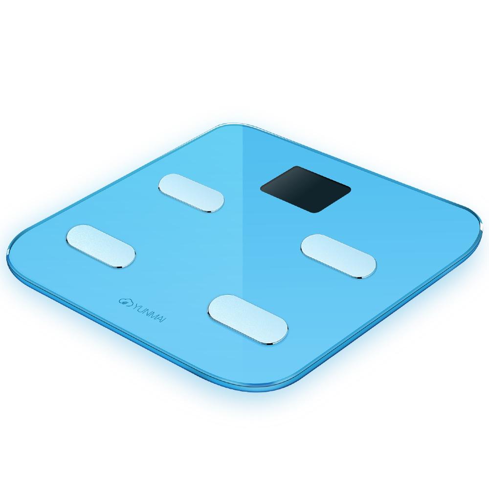 цена Весы напольные Yunmai Color M1302 Light Blue онлайн в 2017 году