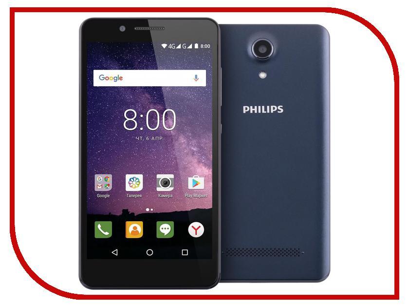 Сотовый телефон Philips S327 16Gb Royal Blue проводной и dect телефон philips td 2816d td 2816d