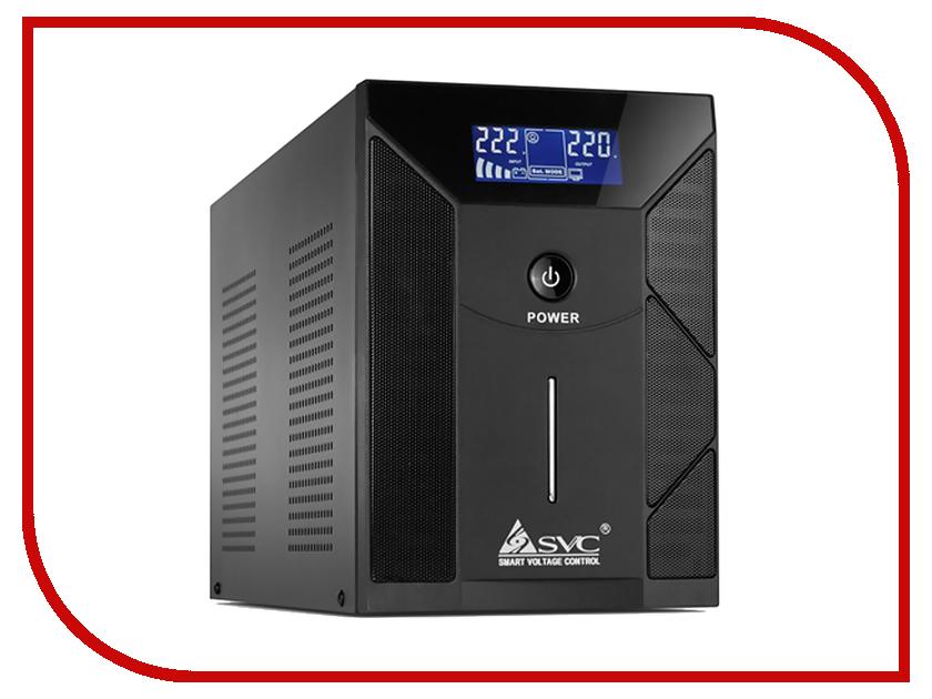 Zakazat.ru: Источник бесперебойного питания SVC V-2000-F-LCD 2000BA/1200W Black