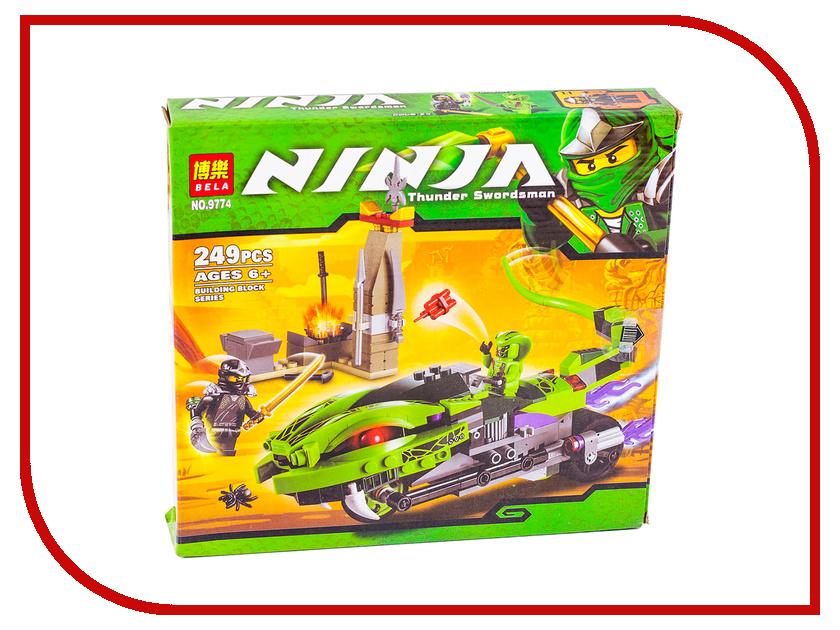 Конструктор Bela Ninja Лаша на мотоцикле 249дет. 9774 755pcs bela 10325 ninja db x nya pythor kai masters of spinjitzu ninja building block toys compatible with lego