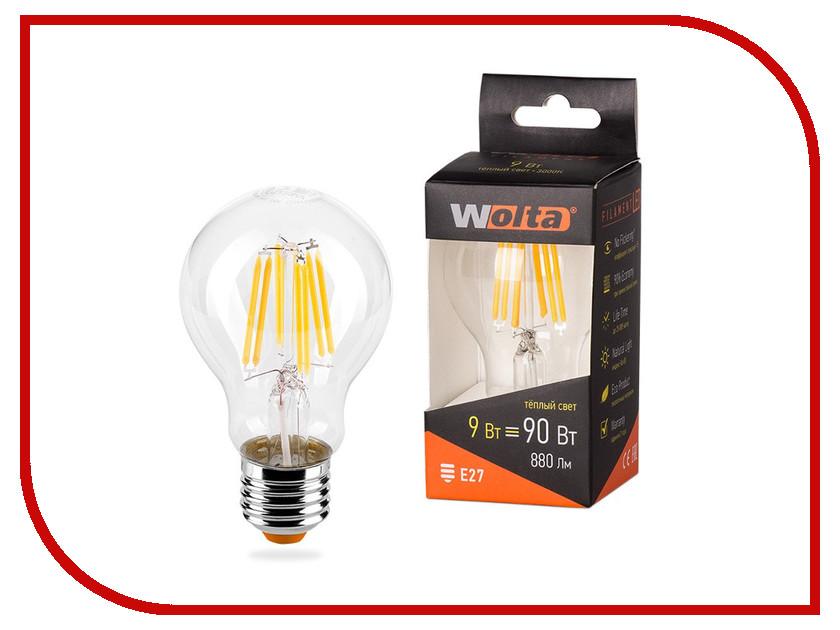 Лампочка Wolta LED A60/9W/3000K/E27 25Y60BLFT9E27 лампочка luazon e27 9w 4200к al 1489121