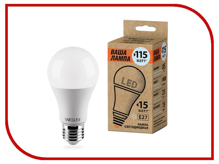 Лампочка Wolta LED A60/15W/4000K/E27 25S60BL15E27-P s 25
