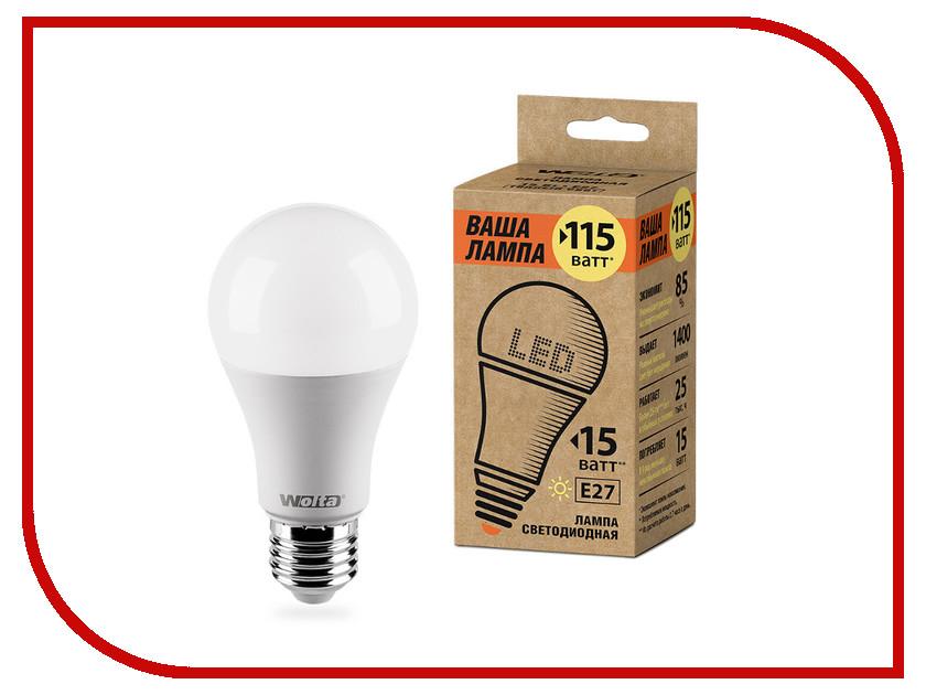 Лампочка Wolta LED A60/15W/3000K/E27 25Y60BL15E27-P цена
