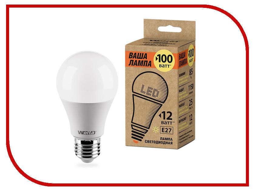Лампочка Wolta LED E27/A60/12W/3000K 25Y60BL12E27-P 1pcs osram d1w1 d1w5 warm white 3000k 12w 18w hight power led emitter bulb lamp light led chip heatsink