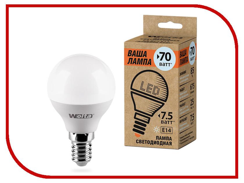 Лампочка Wolta LED G45/7.5W/4000K/E14 25S45GL7.5E14-P s 25
