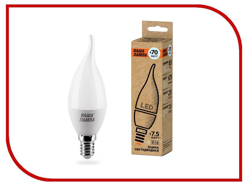 Лампочка Wolta LED C37/7.5W/4000K/E14 25SCD7.5E14-P регулятор для дайвинга scd 100 соединение yoke int
