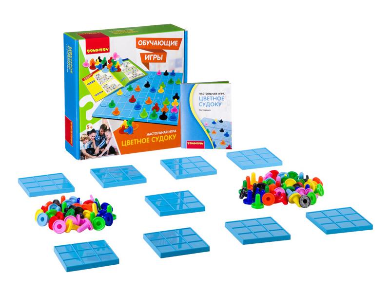 Настольная игра Bondibon Цветное судоку ВВ2425 настольная игра bondibon магнитный театр верные друзья разноцветный