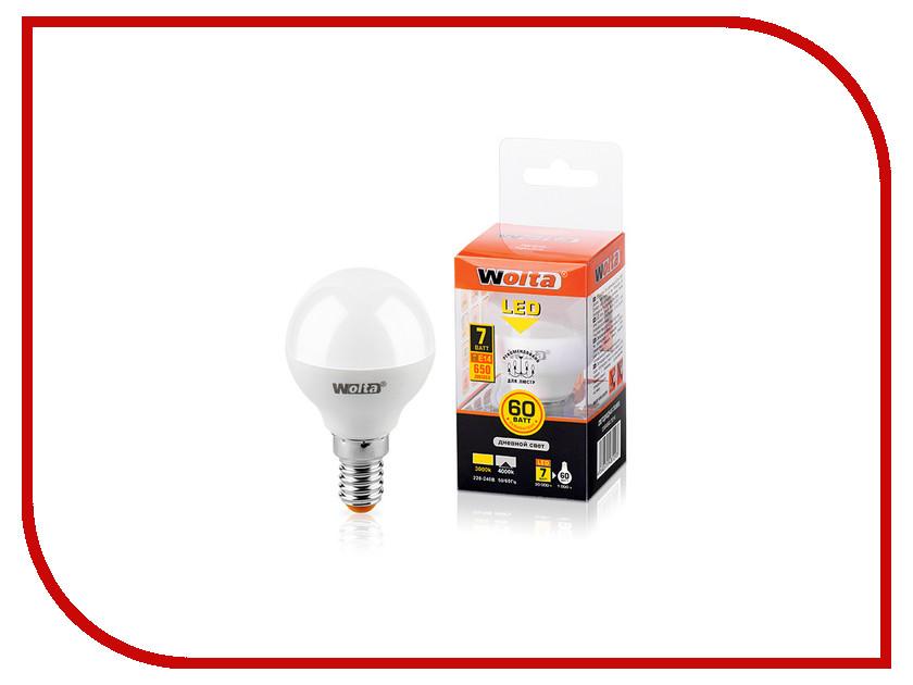 Лампочка Wolta LED G45/7W/4000K/E14 25S45GL7E14 s 25