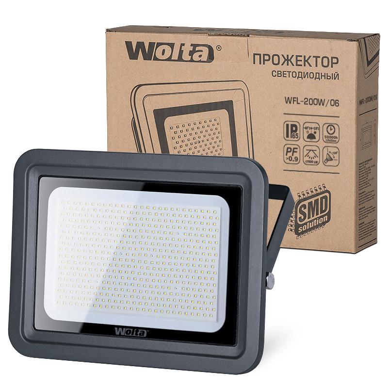 Прожектор Wolta WFL-200W/06 200W 220V 5500K SMD IP65 прожектор wolta wfl 20w 06 20w 180v 5500к smd ip65 grey