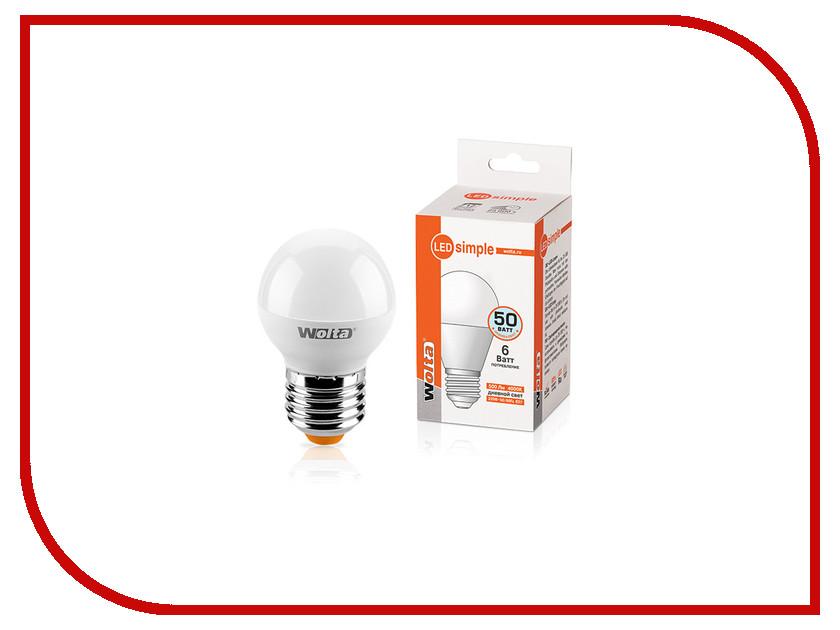 Лампочка Wolta LED GL45/6W/4000K/E27 25S45GL6E27-S s 25