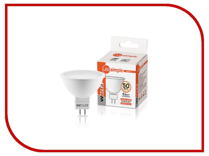 Лампочка Wolta LED MR16/6W/3000K/GU5.3 25YMR16-220-6GU5.3-S