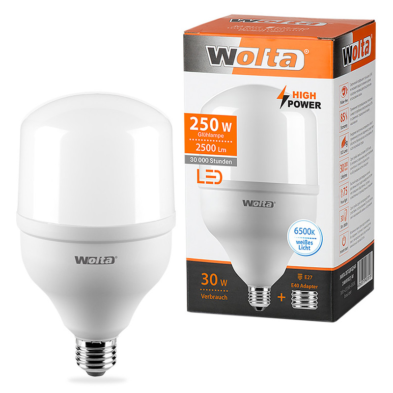 Лампочка Wolta LED HP/30W/6500K/E27/40 25WHP30E27/40