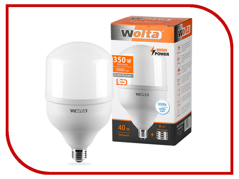 Лампочка Wolta LED HP/40W/6500K/E27/40 25WHP40E27/40