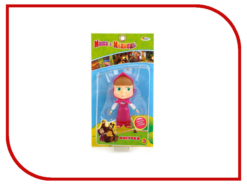 Кукла Играем вместе Маша и Медведь Маша в розовом платье F-23R фигурки игрушки маша и медведь кукла маша