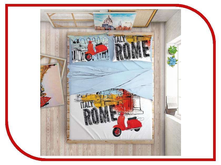Постельное белье LOVE ME Holliday in Rome Комплект 2 спальный Перкаль 711020 women in love