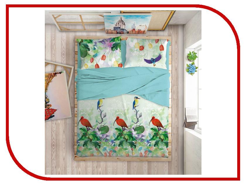 Постельное белье LOVE ME Tropic Комплект Евро Перкаль 711079 комплект постельного белья love me евро перкаль tropic 198862 711079