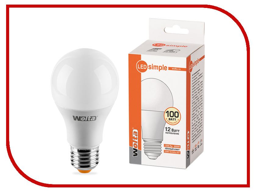 Лампочка Wolta LED A60/12W/3000K/E27 25Y60BL12E27-S y s park carbon tiger brush 60