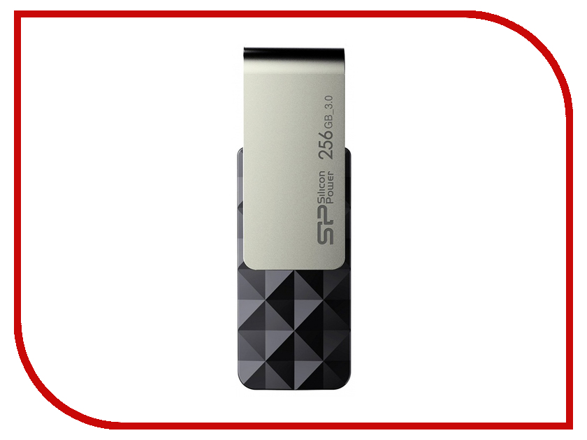 USB Flash Drive 256Gb - Silicon Power Blaze B30 SP256GBUF3B30V1K usb flash drive 16gb silicon power blaze b10 blue sp016gbuf3b10v1b