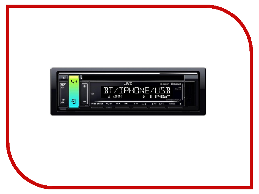 Автомагнитола JVC KD-R891BT автомагнитола jvc kd x151