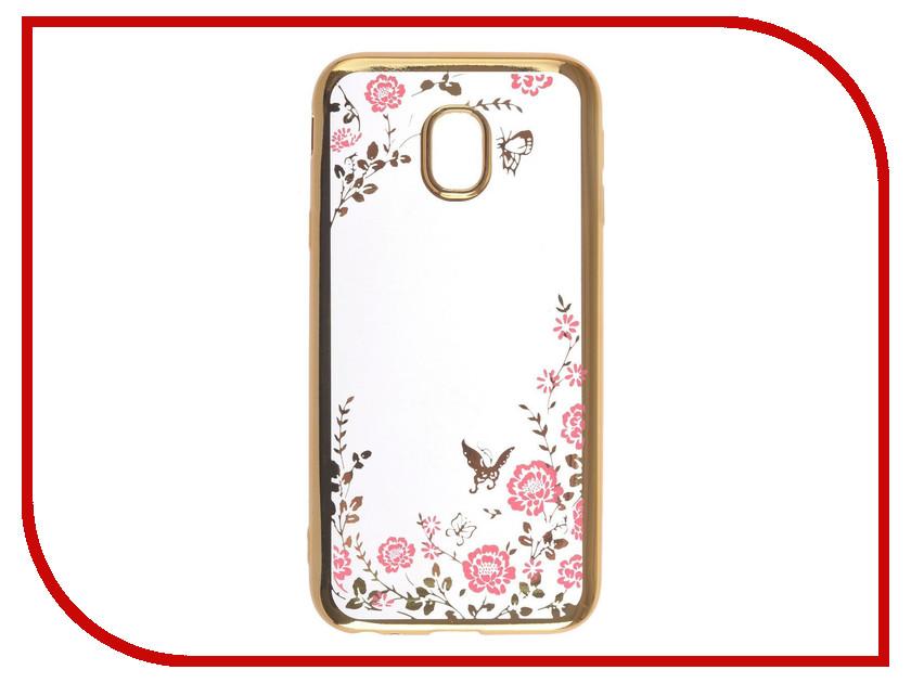 Аксессуар Чехол-накладка Samsung Galaxy J3 2017 SkinBox Silicone Chrome Border Color Style 1 4People Pink T-S-SGJ32017-010 аксессуар чехол samsung galaxy note 8 skinbox silicone chrome border color style 1 4people pink t s sgn8 010