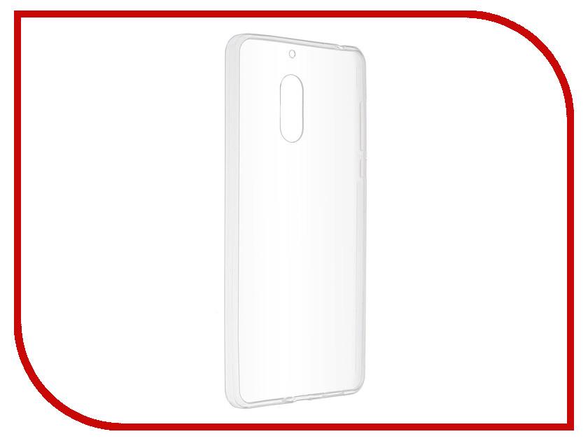 Аксессуар Чехол-накладка для Nokia 6 SkinBox Slim Silicone Transparent T-S-N6-005 аксессуар чехол накладка huawei y3 2017 skinbox slim silicone transparent t s hy32017 005