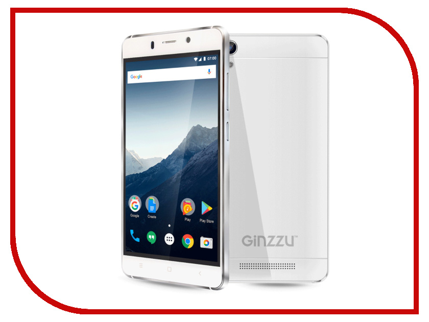 Сотовый телефон Ginzzu S5002 White ginzzu gt x770 v2 lte 8gb white