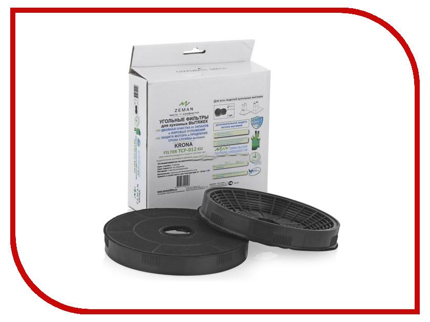 Фильтр для вытяжки Zeman TCF-012 2шт фильтр д вытяжки cata p3060 sp tcf 004 угольный