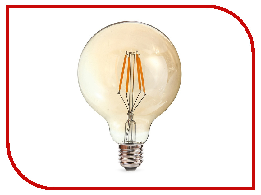 Лампочка Rev LED Filament Vintage Шар E27 G95 5W 2700K DECO Premium теплый свет 32433 1 edison led filament bulb g125 big global light bulb 2w 4w 6w 8w led filament bulb e27 clear glass indoor lighting lamp ac220v