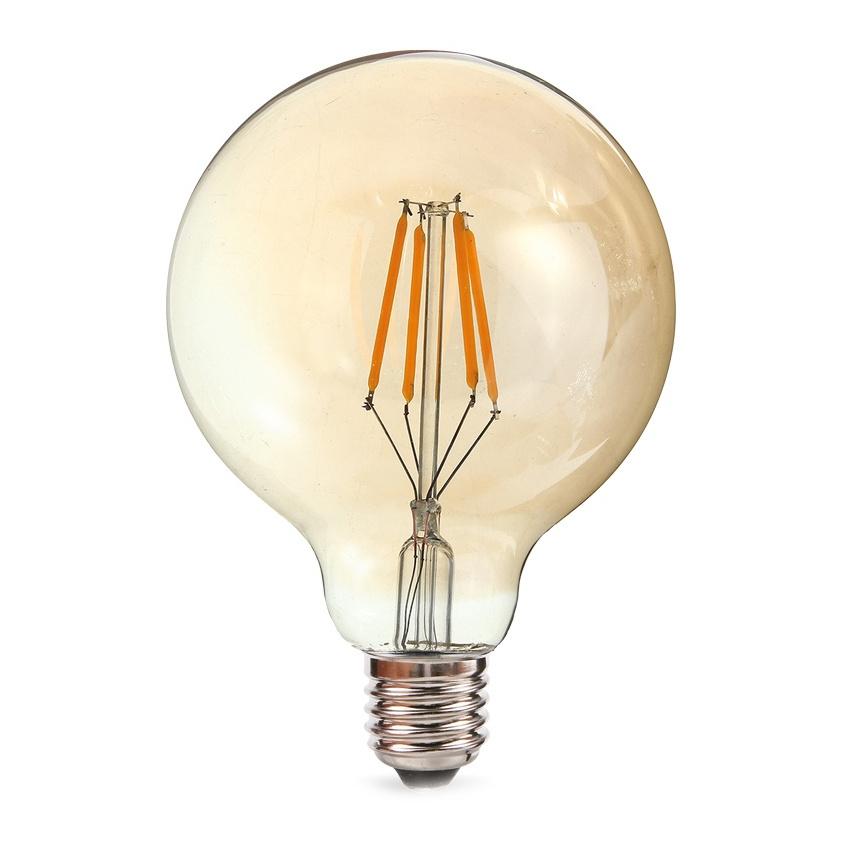 Лампочка Rev LED Filament Vintage Шар G95 E27 7W 2700K DECO Premium теплый свет 32434 8 лампочка rev led a60 e27 7w 2700k 32264 1