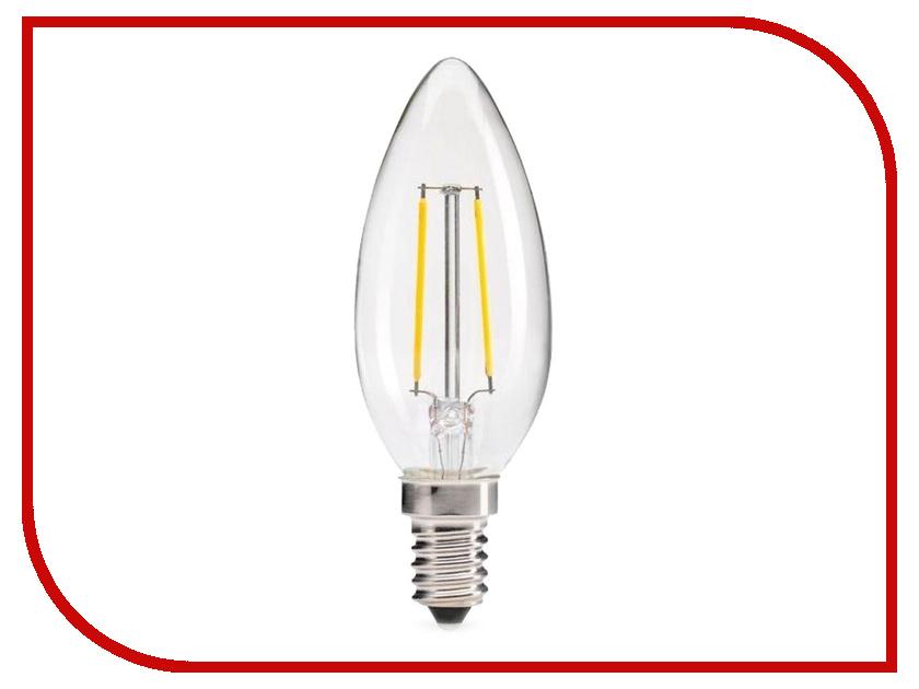 Лампочка Rev LED Filament Свеча C37 E14 5W 2700K DECO Premium теплый свет 32359 4 лампочка rev led jcd g9 1 6w 3000k теплый свет 220v 32439 3