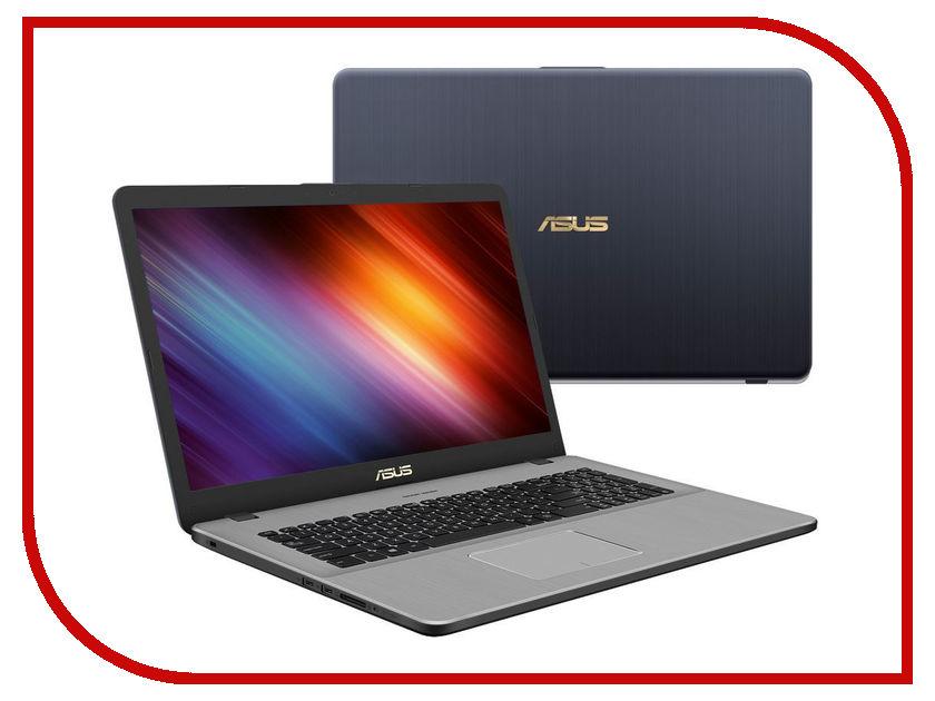Ноутбук ASUS VivoBook Pro 17 N705UD-GC072 90NB0GA1-M02100 (Intel Core i7-8550U 1.8 GHz/8192Mb/1000Gb/No ODD/nVidia GeForce GTX 1050 2048Mb/Wi-Fi/Bluetooth/Cam/17.3/1920x1080/Endless) ноутбук msi gp72m 7rex 1206xru 9s7 1799d3 1206 intel core i7 7700hq 2 8 ghz 8192mb 1000gb no odd nvidia geforce gtx 1050ti 4096mb wi fi bluetooth cam 17 3 1920x1080 dos