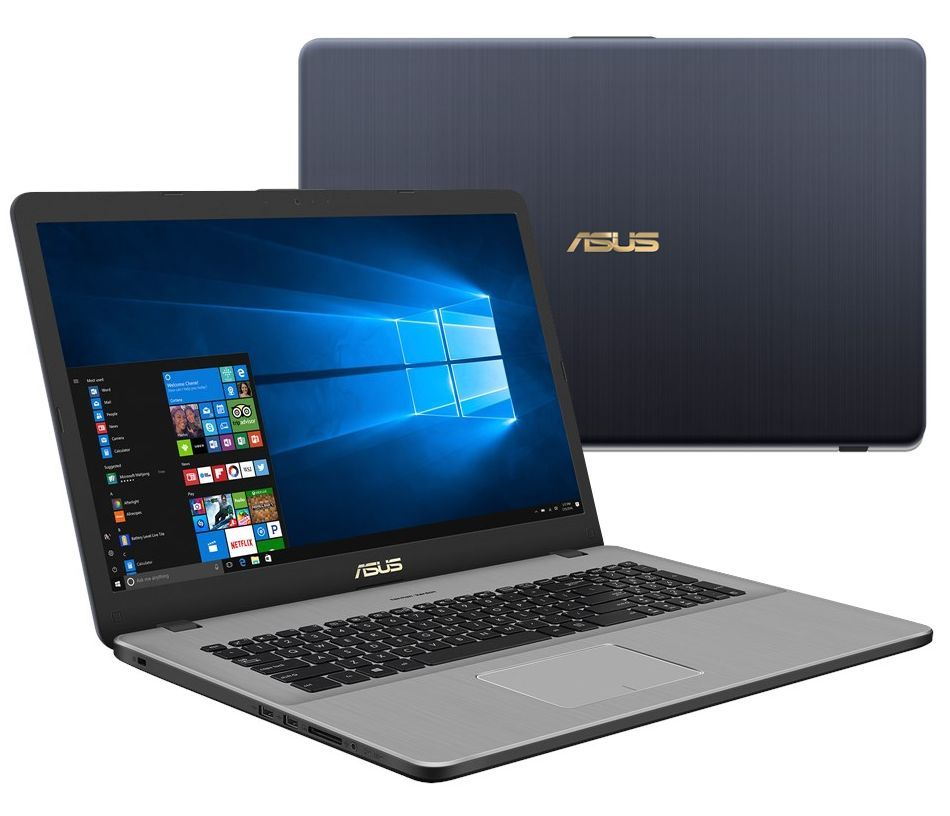 Ноутбук ASUS VivoBook Pro 17 N705UD-GC072T 90NB0GA1-M02140 (Intel Core i7-8550U 1.8 GHz/8192Mb/1000Gb/No ODD/nVidia GeForce GTX 1050 2048Mb/Wi-Fi/Bluetooth/Cam/17.3/1920x1080/Windows 10 64-bit) цена 2017