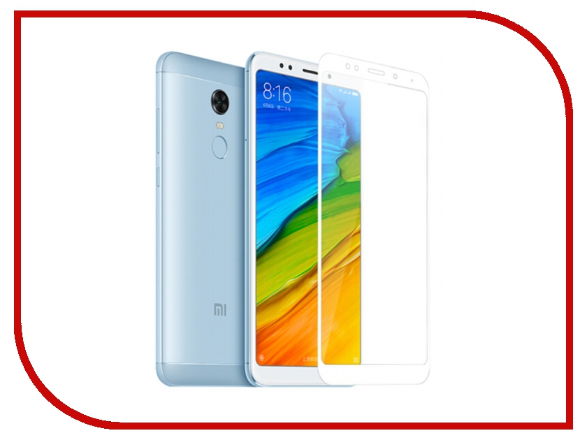 Аксессуар Закаленное стекло для Xiaomi Redmi 5 Plus DF Full Screen xiColor-23 White tested original 5 15 inch black white golden 1920x1080 display for xiaomi 5 mi 5 mi5 m5 lcd with touch screen replacement