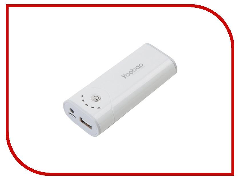 Аккумулятор Зарядное устройство универсальное Yoobao Power Bank YB-622 5200 mAh White