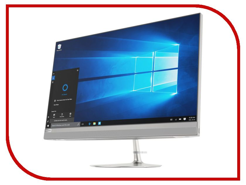 Моноблок Lenovo IdeaCentre AIO 520-27IKL MS Silver F0D0000GRK (Intel Core i3-7100T 3.4 GHz/4096Mb/1000Gb+16Gb SSD/DVD-RW/nVidia GeForce 940MX 2048Mb/Wi-Fi/Bluetooth/Cam/27.0/2560x1440/Windows 10 Home 64-bit) моноблок asus zen aio zn270iegk ra016t 27 0 led core i7 7700t 2900mhz 8192mb hdd 1000gb nvidia geforce gt 940mx 2048mb ms windows 10 home 64 bit [90pt01r1 m00500]