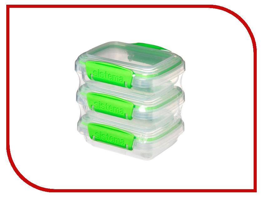 Набор контейнеров Sistema Fresh 200ml 3шт 951523 набор контейнеров для еды curver набор контейнеров fresh