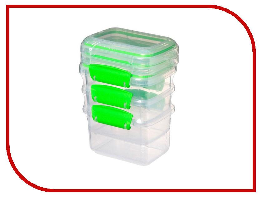 Набор контейнеров Sistema Fresh 400ml 3шт 951543 набор контейнеров для еды curver набор контейнеров fresh