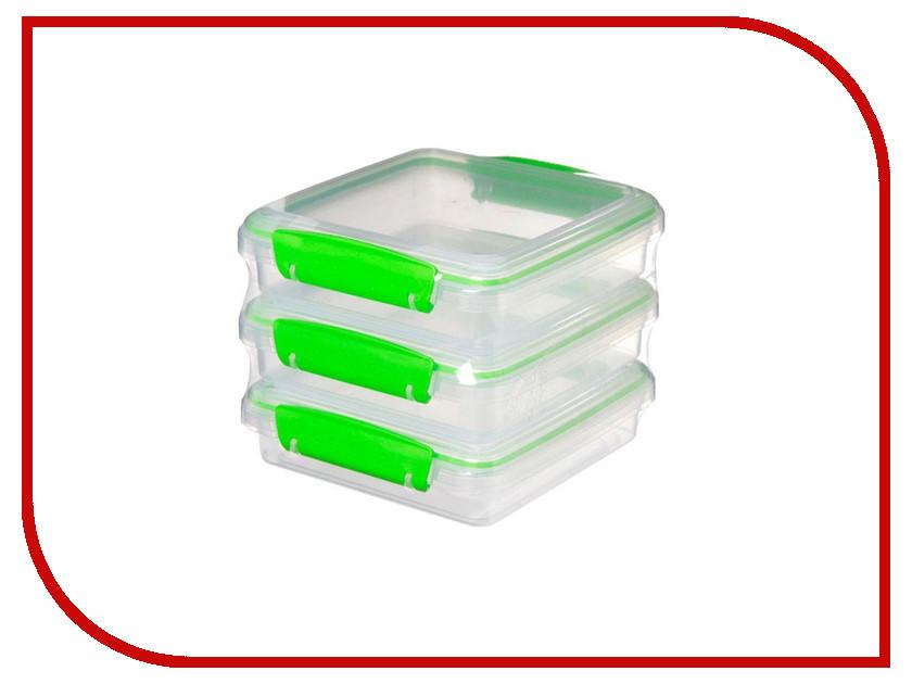 Набор контейнеров для сэндвичей Sistema Fresh 450ml 3шт 951643 набор контейнеров для еды curver набор контейнеров fresh