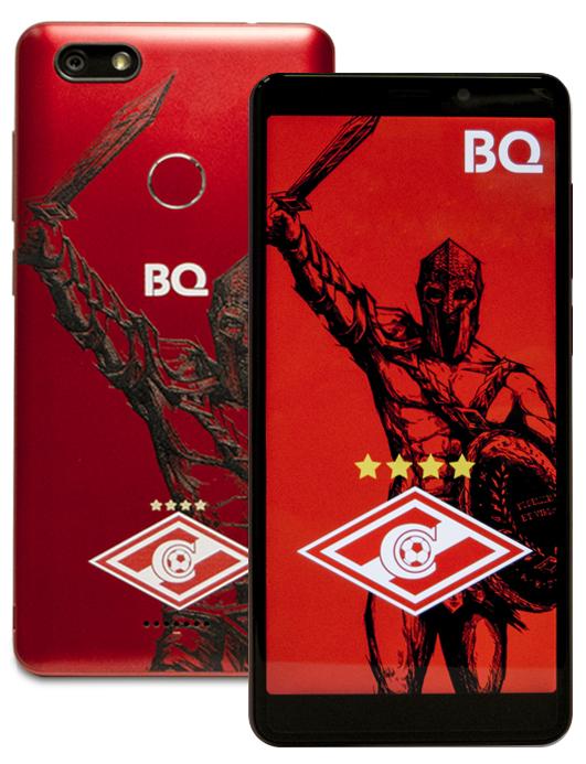 Сотовый телефон BQ 5500L Advance Spartak Edition Red сотовый телефон bq bq 2442 one l plus red