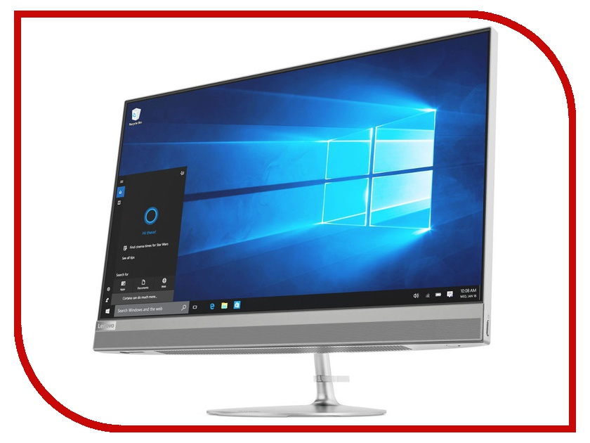 Моноблок Lenovo IdeaCentre AIO 520-24IKU MS Silver F0D2003ERK (Intel Core i5-7200U 2.5 GHz/4096Mb/1000Gb+16Gb SSD/DVD-RW/AMD Radeon 530 2048Mb/Wi-Fi/Bluetooth/Cam/23.8/1920x1080/Windows 10 Home 64-bit) моноблок asus vivo aio v220iagk ba014x 21 5 led core i3 5005u 2000mhz 4096mb hdd 1000gb nvidia geforce 930mx 2048mb ms windows 10 home 64 bit [90pt01p1 m00600]