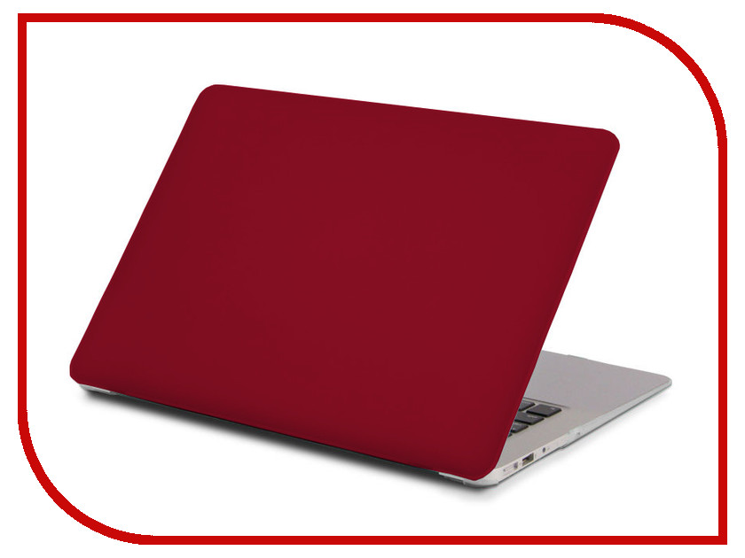 Аксессуар Чехол 13.3-inch Gurdini для APPLE MacBook Retina 13 Matt Burgundy