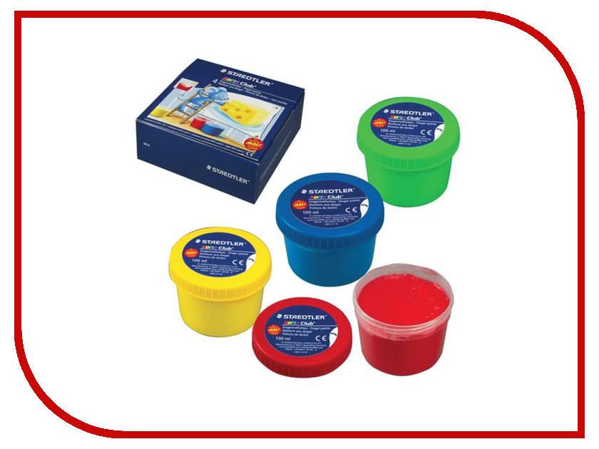 Пальчиковые краски Staedtler Noris Club 4 цвета 100ml 8814 D туалетная вода vip club тулетная вода vip club platinum 100ml
