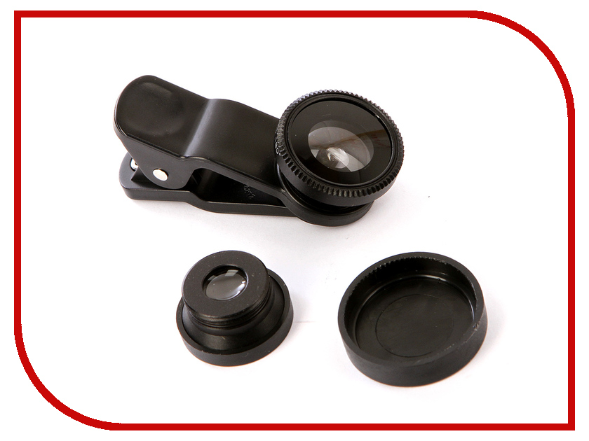 Объектив Gurdini Universal Fisheye 3 in 1 Black 290120
