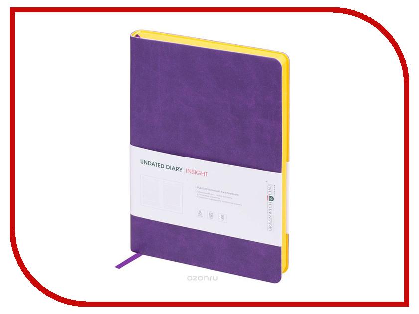 Ежедневник Greenwich Line A5 Insight Purple Yellow ENA5CR-11181 greenwich line дневник школьный mercury цвет красный