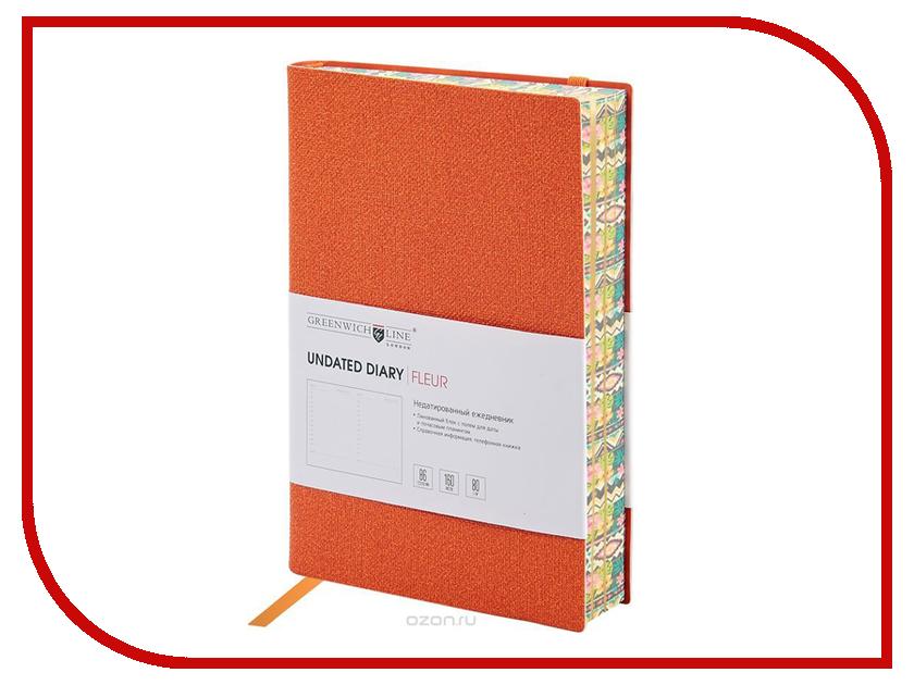 Ежедневник Greenwich Line B6 Fleur Orange ENB6CR-11249 greenwich line дневник школьный mercury цвет красный