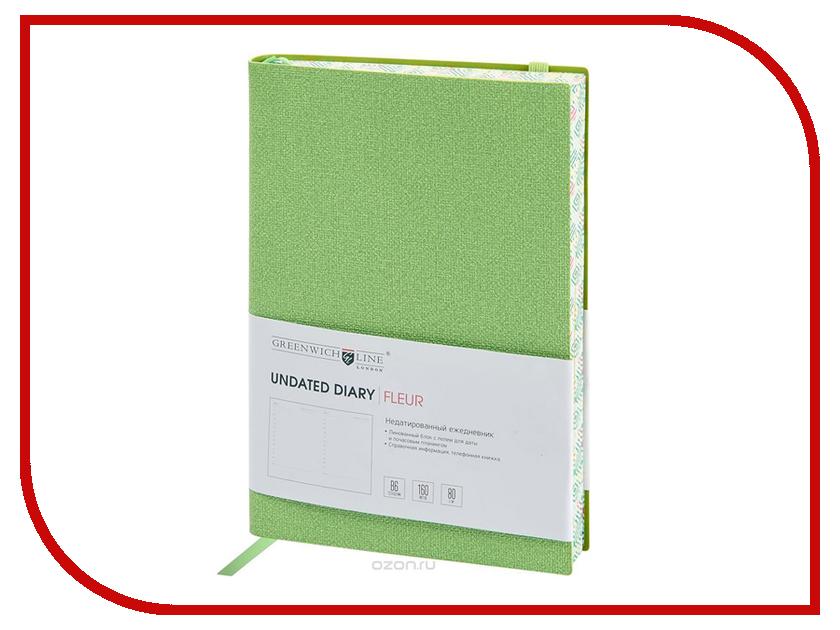 Ежедневник Greenwich Line B6 Fleur Lime Green ENB6CR-11251 greenwich line дневник школьный mercury цвет красный