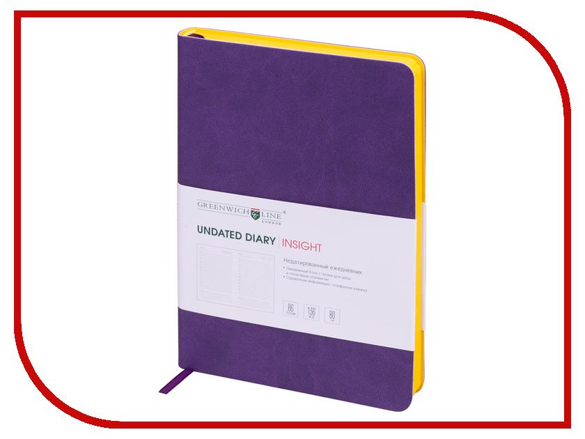 Ежедневник Greenwich Line B6 Insight Lilac Yellow ENB6CR-11201 greenwich line дневник школьный mercury цвет красный