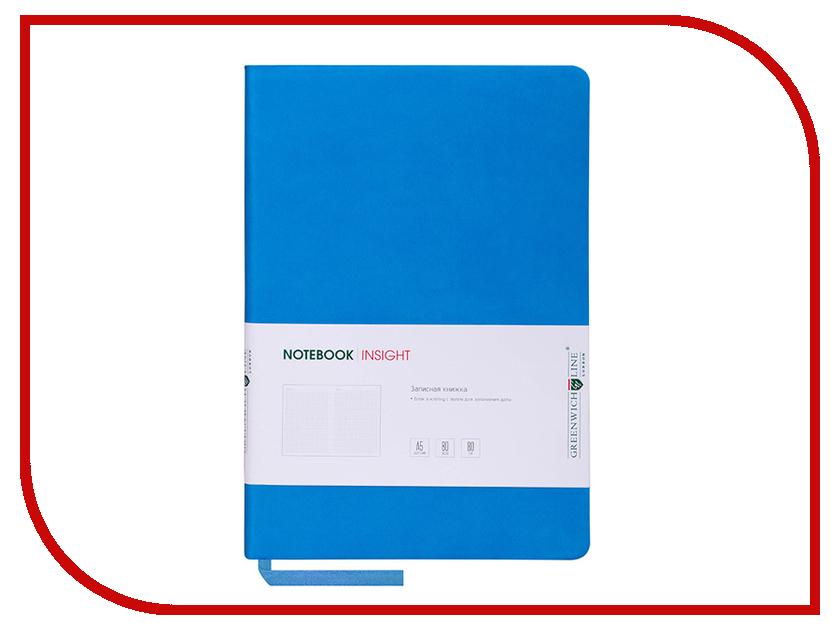 Ежедневник Greenwich Line А5 Insight Blue Lime Green NA5CR-11217 greenwich line дневник школьный mercury цвет красный
